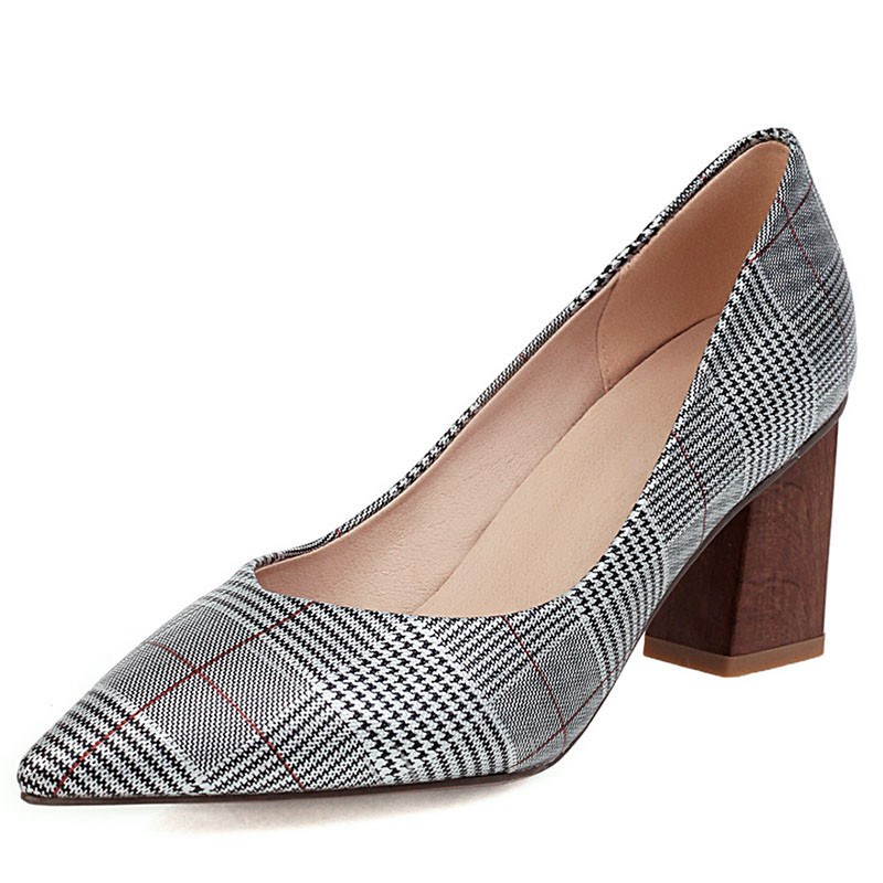 Ericdress Slip-On Chunky Heel Thread Casual Pumps