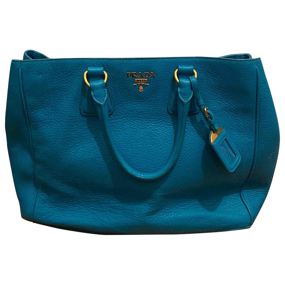 Prada \N Turquoise Leather handbag for Women \N
