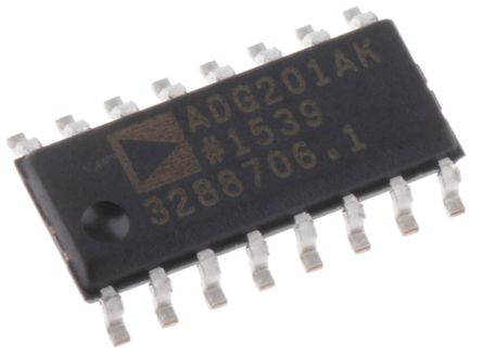 Analog Devices ADG201AKRZ , Analogue Switch Quad SPST, 16-Pin SOIC
