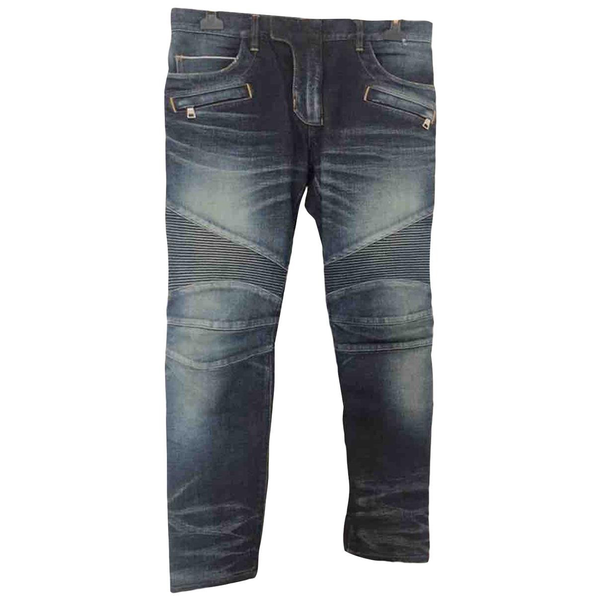 Balmain \N Blue Cotton Jeans for Men 32 US