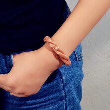 Metall Armband mit Twist