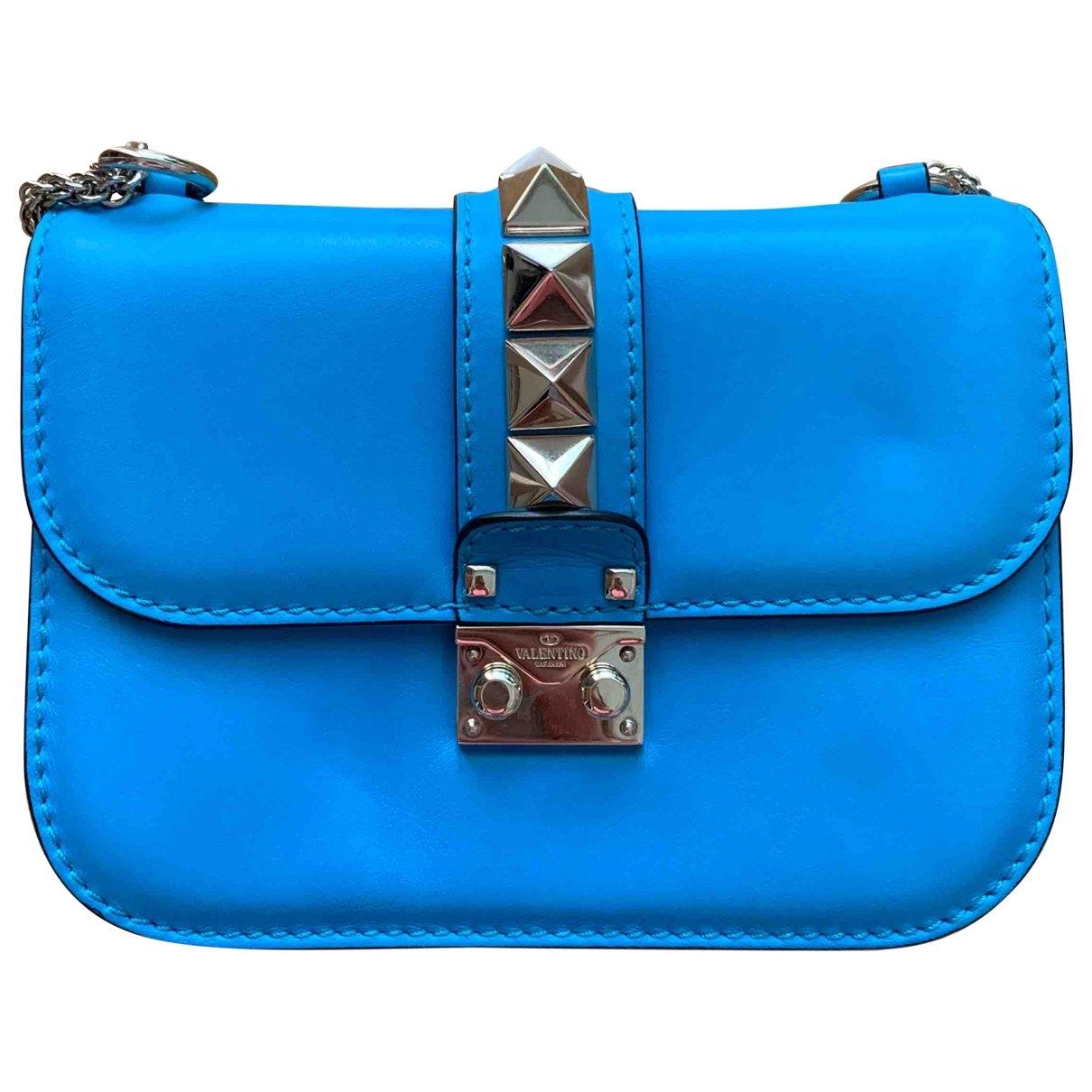 Valentino Garavani - Sac a main   pour femme en cuir - bleu