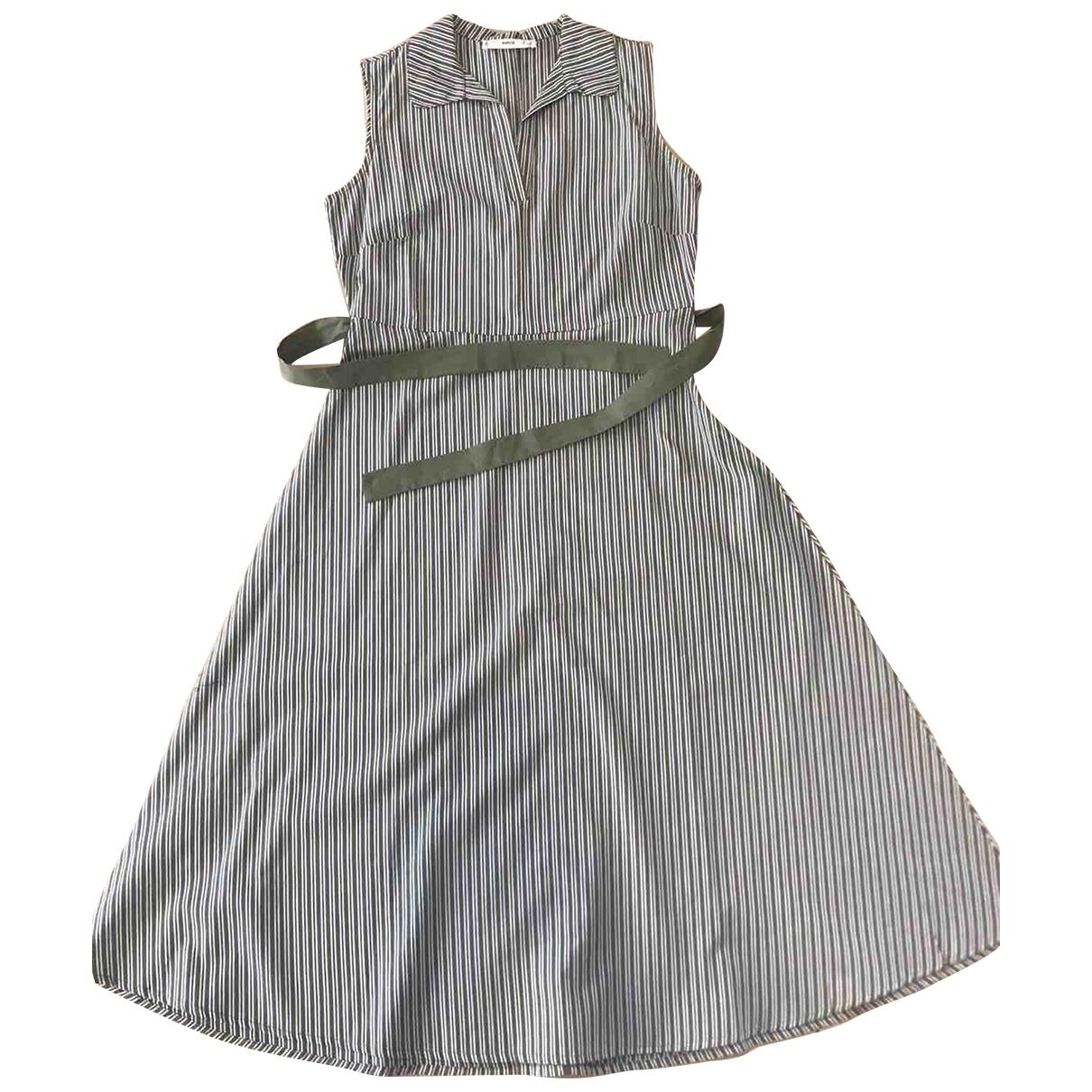 Mango \N Kleid in  Gruen Baumwolle