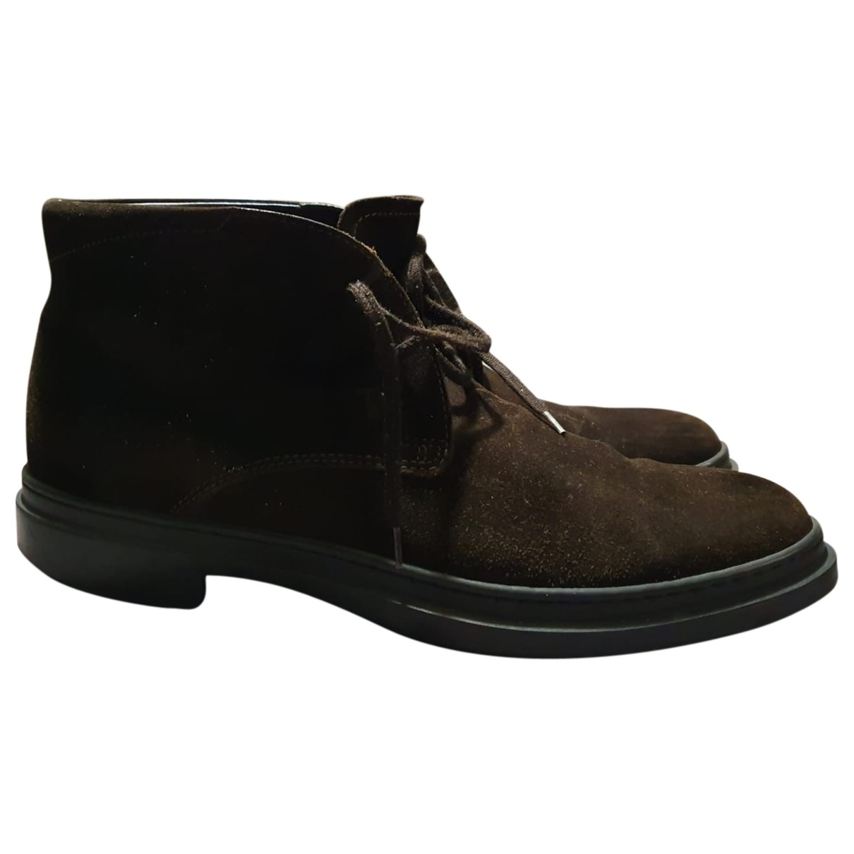 Tod's \N Brown Suede Boots for Men 7 US