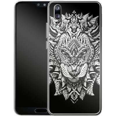 Huawei P20 Silikon Handyhuelle - Ornate Lion von BIOWORKZ