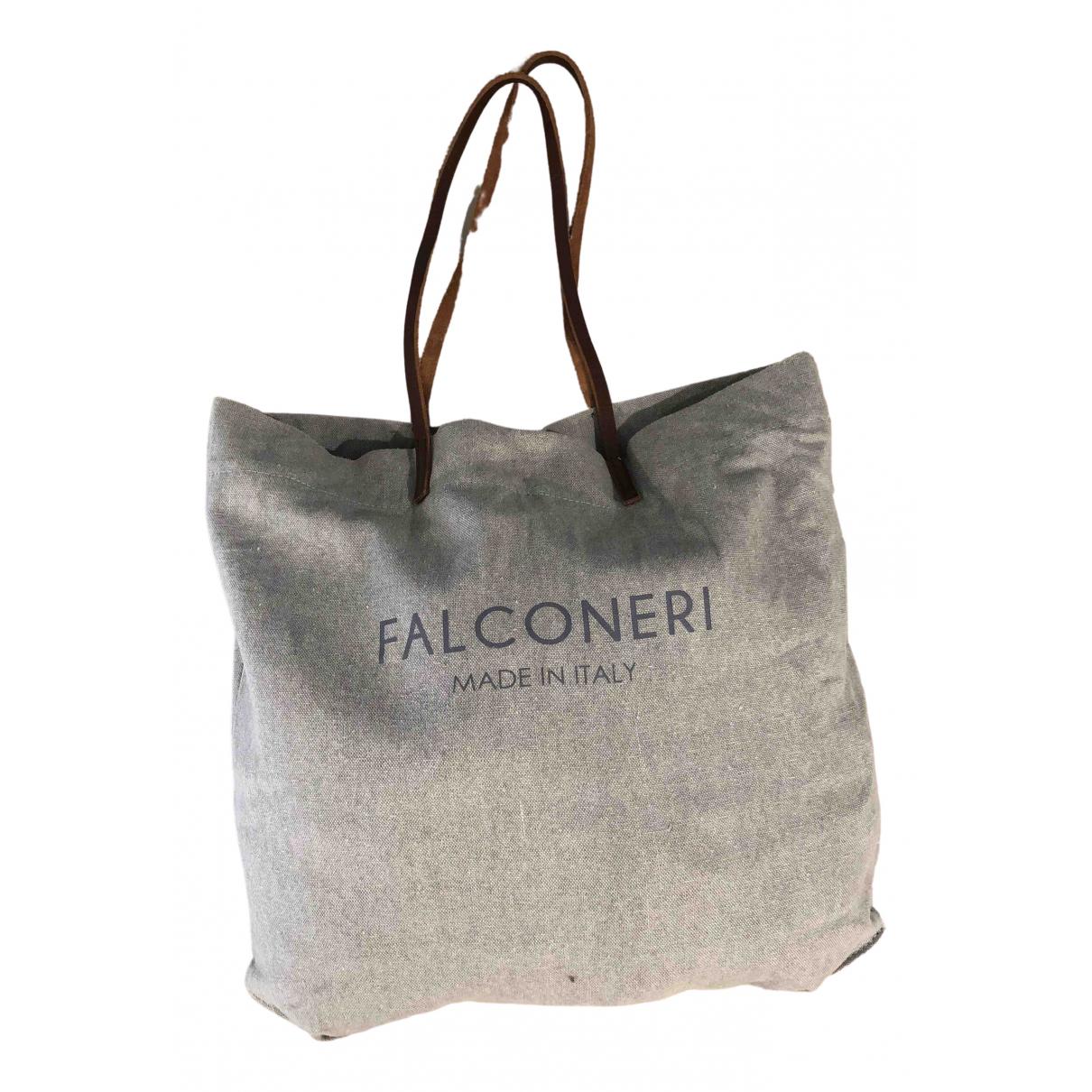 Falconeri - Sac a main   pour femme en coton - gris
