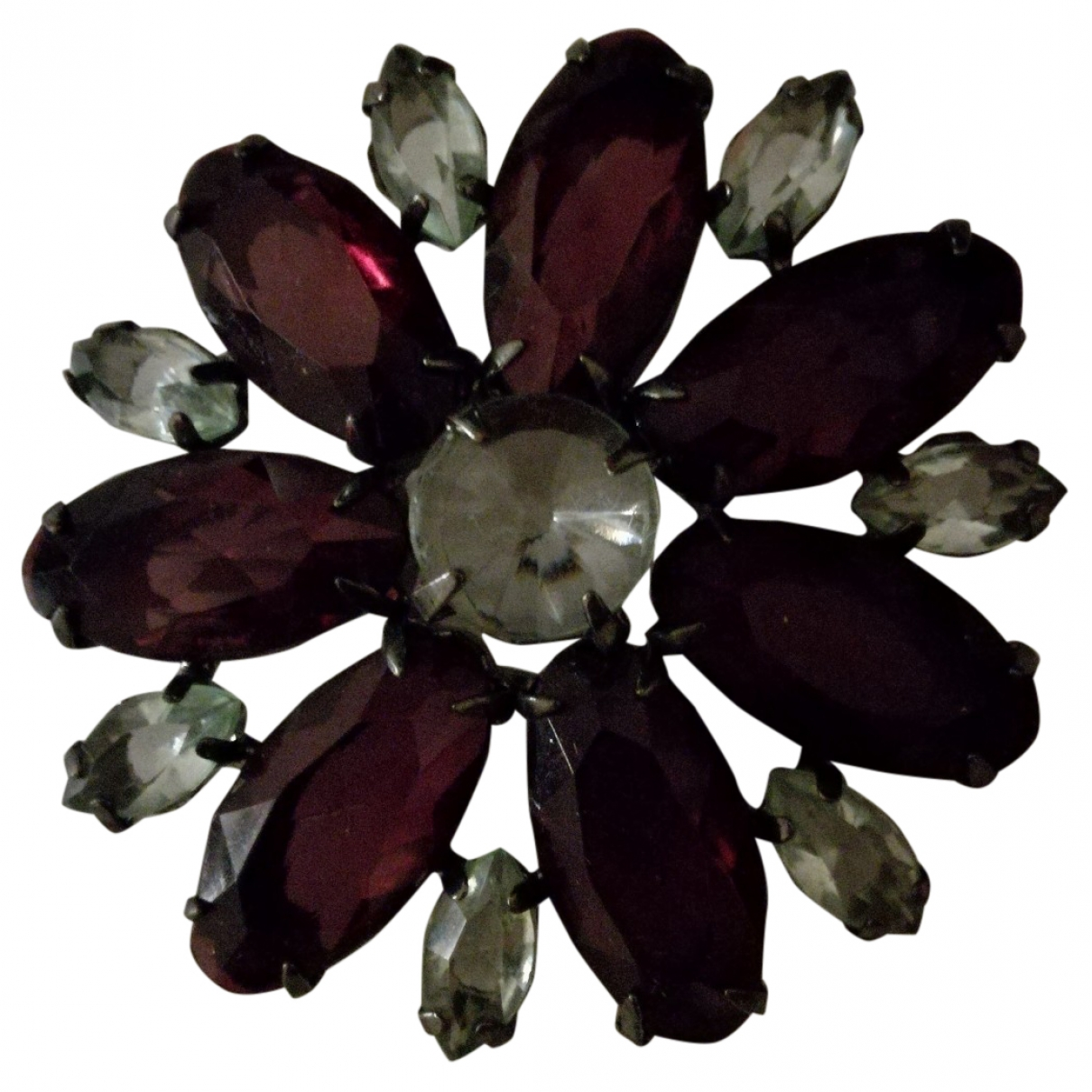 Non Signé / Unsigned \N Burgundy Pins & brooches for Women \N