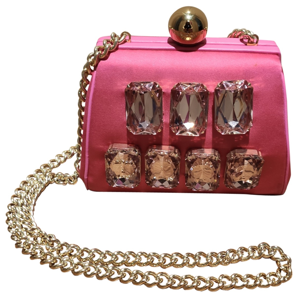 Moschino Cheap And Chic \N Clutch in  Rosa Seide