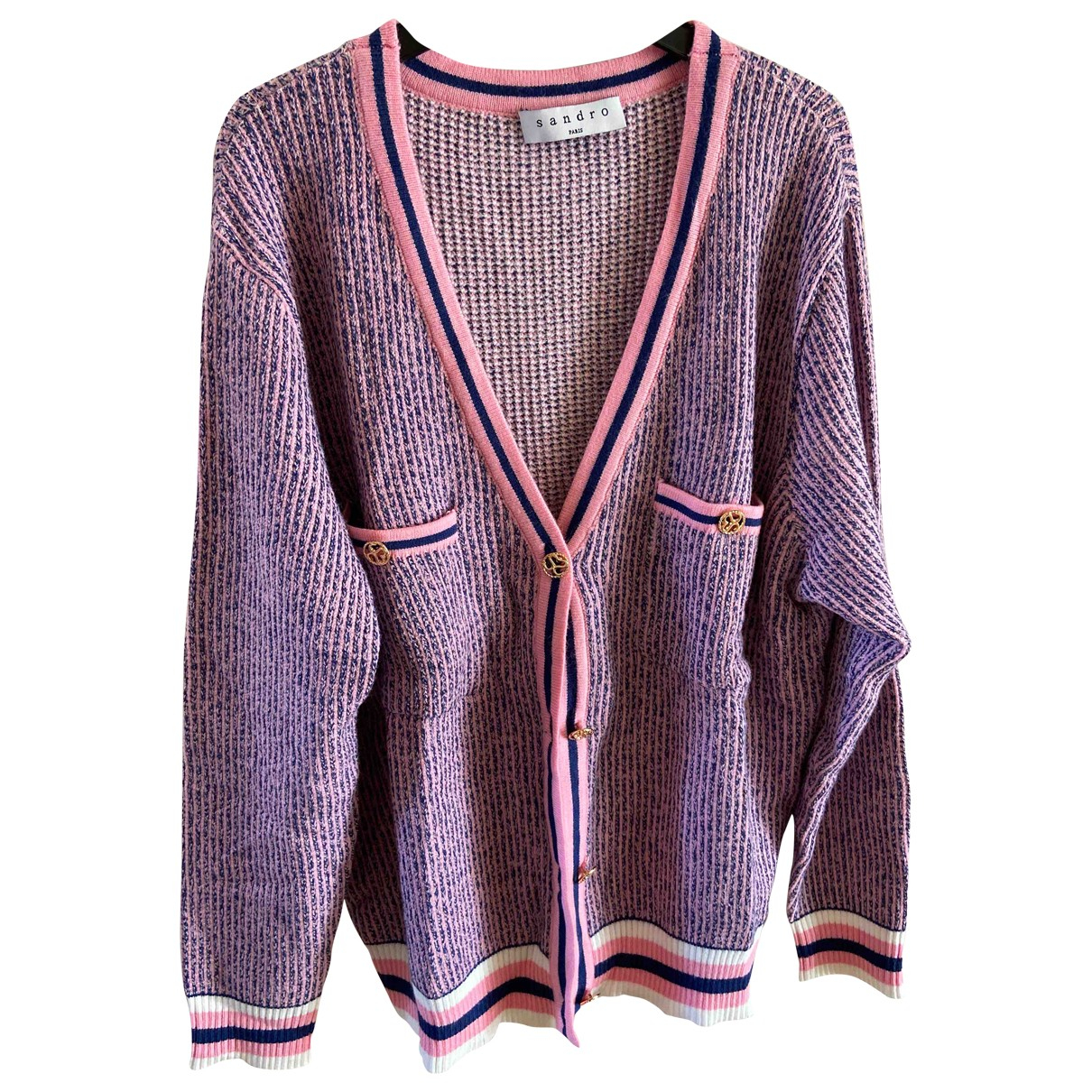 Sandro Spring Summer 2019 Pink Cotton Knitwear for Women 2 0-5
