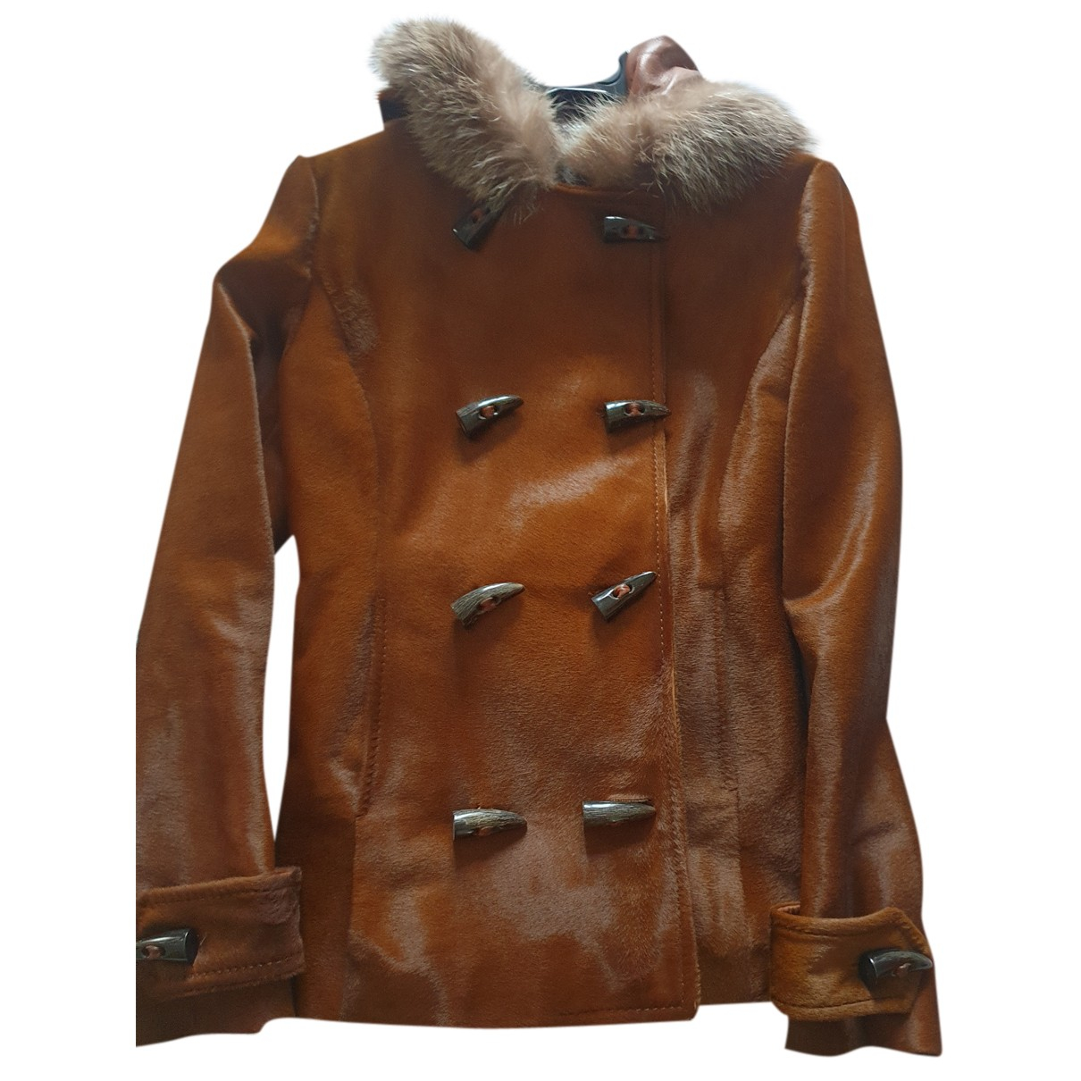 Dolce & Gabbana N Camel Fur jacket for Women 44 IT