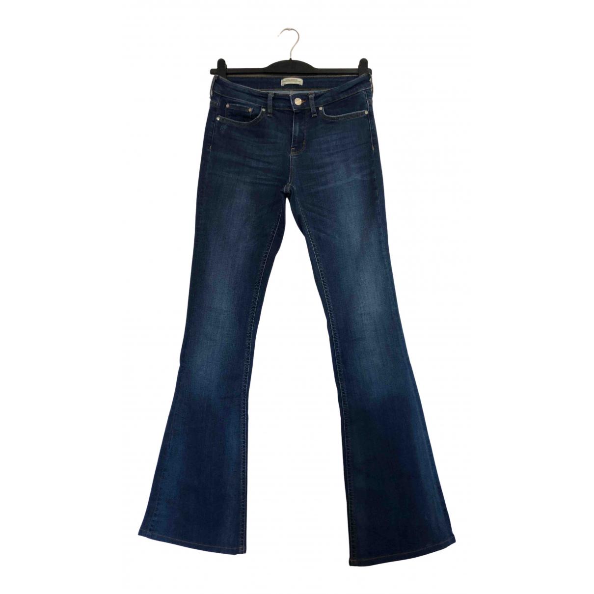 Zara N Blue Cotton - elasthane Jeans for Women 36 FR