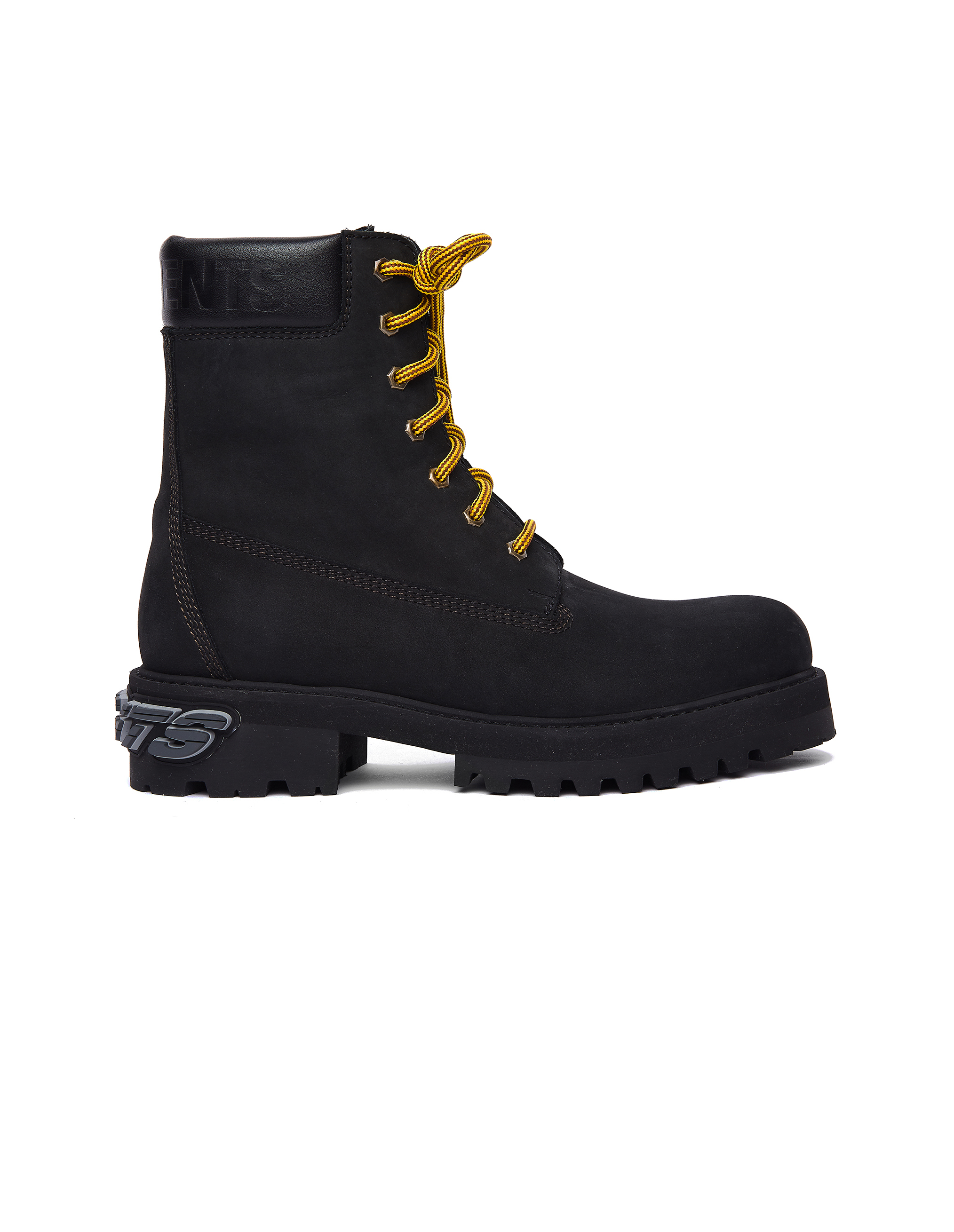 Vetements Black Rubbered Logo Boots