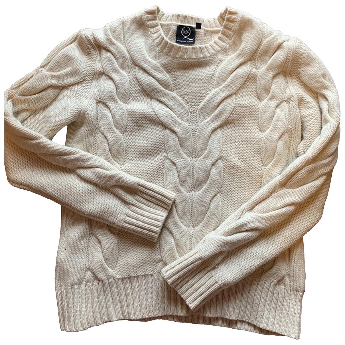 Mcq - Pull   pour femme en laine - ecru