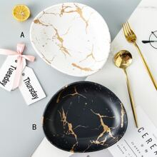 1pc Marble Pattern Plate
