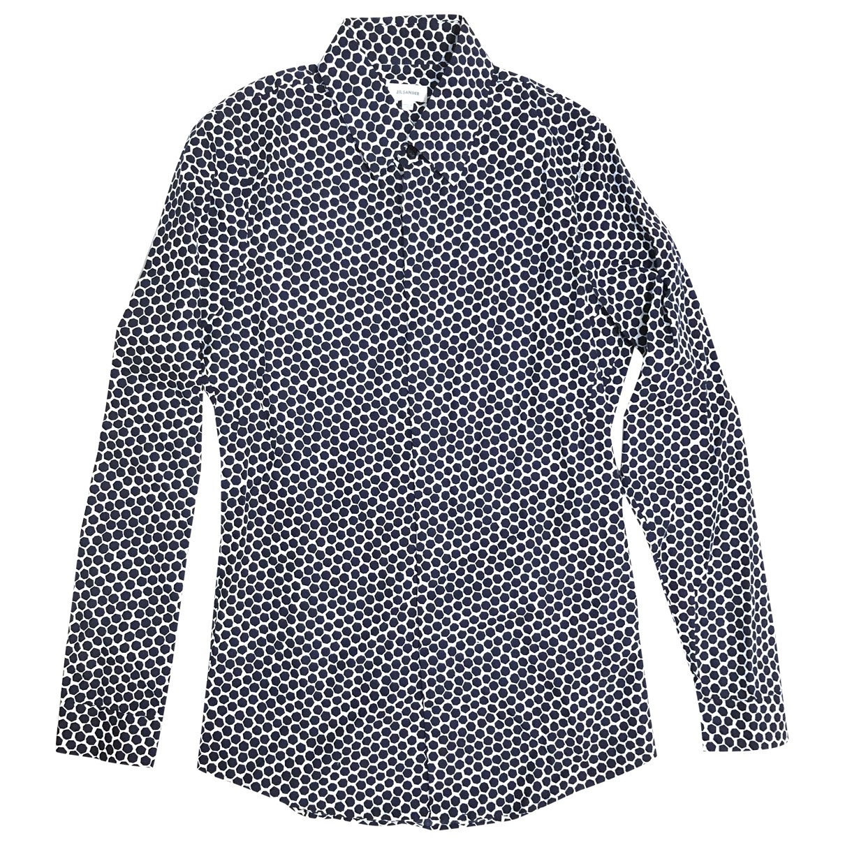 Jil Sander \N Navy Cotton Shirts for Men 38 EU (tour de cou / collar)