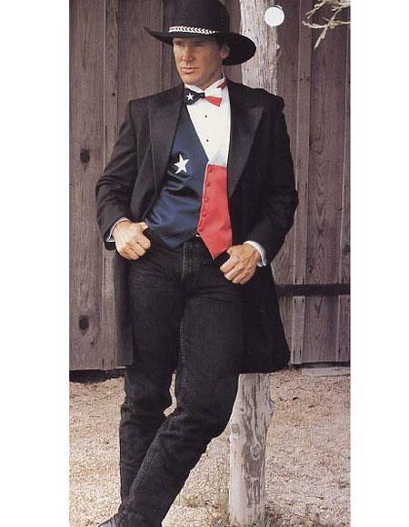 Mens Western Dark Brown Suit & Tuxedo