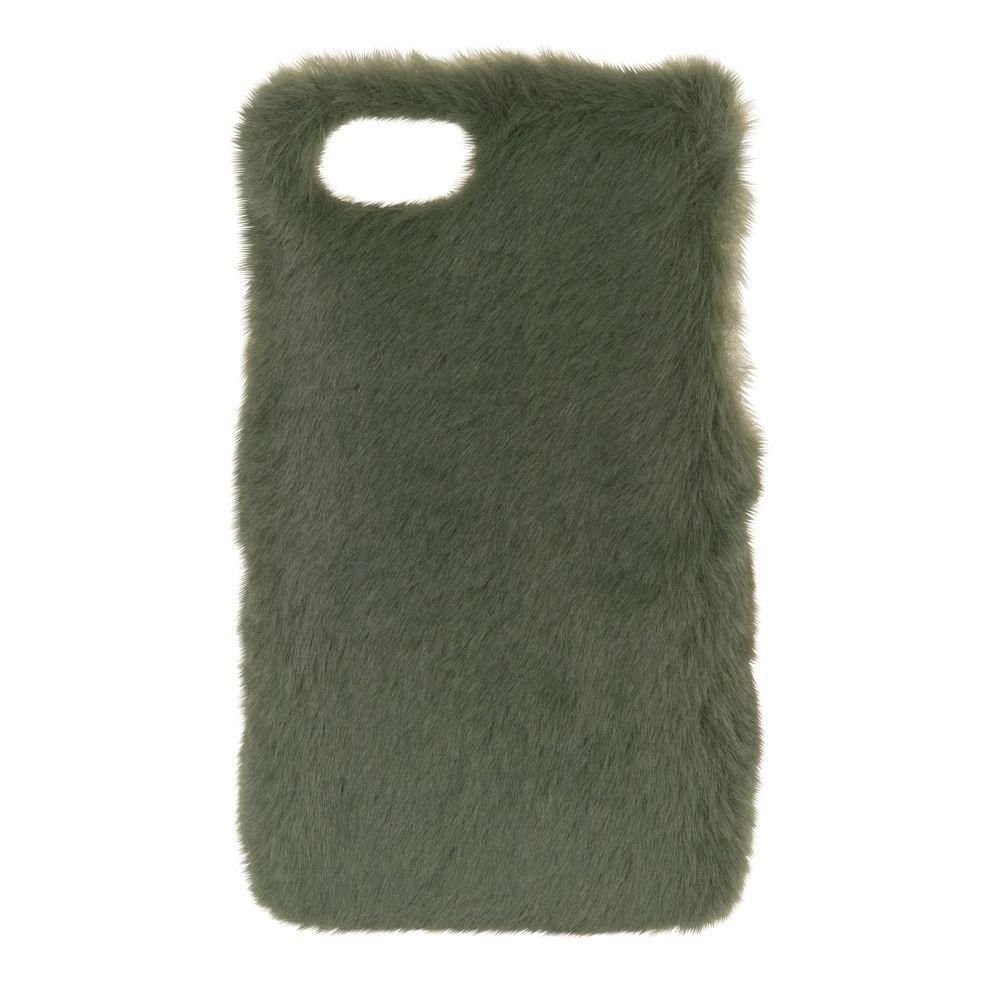 Schutzschale fuer iPhone 6/7/8 aus Kunstfell, gruen