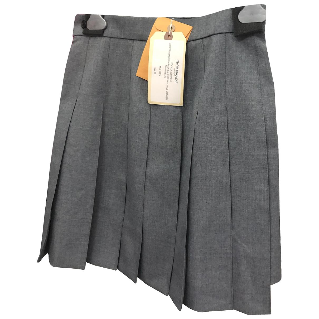Thom Browne \N Grey Wool skirt for Women 36 IT