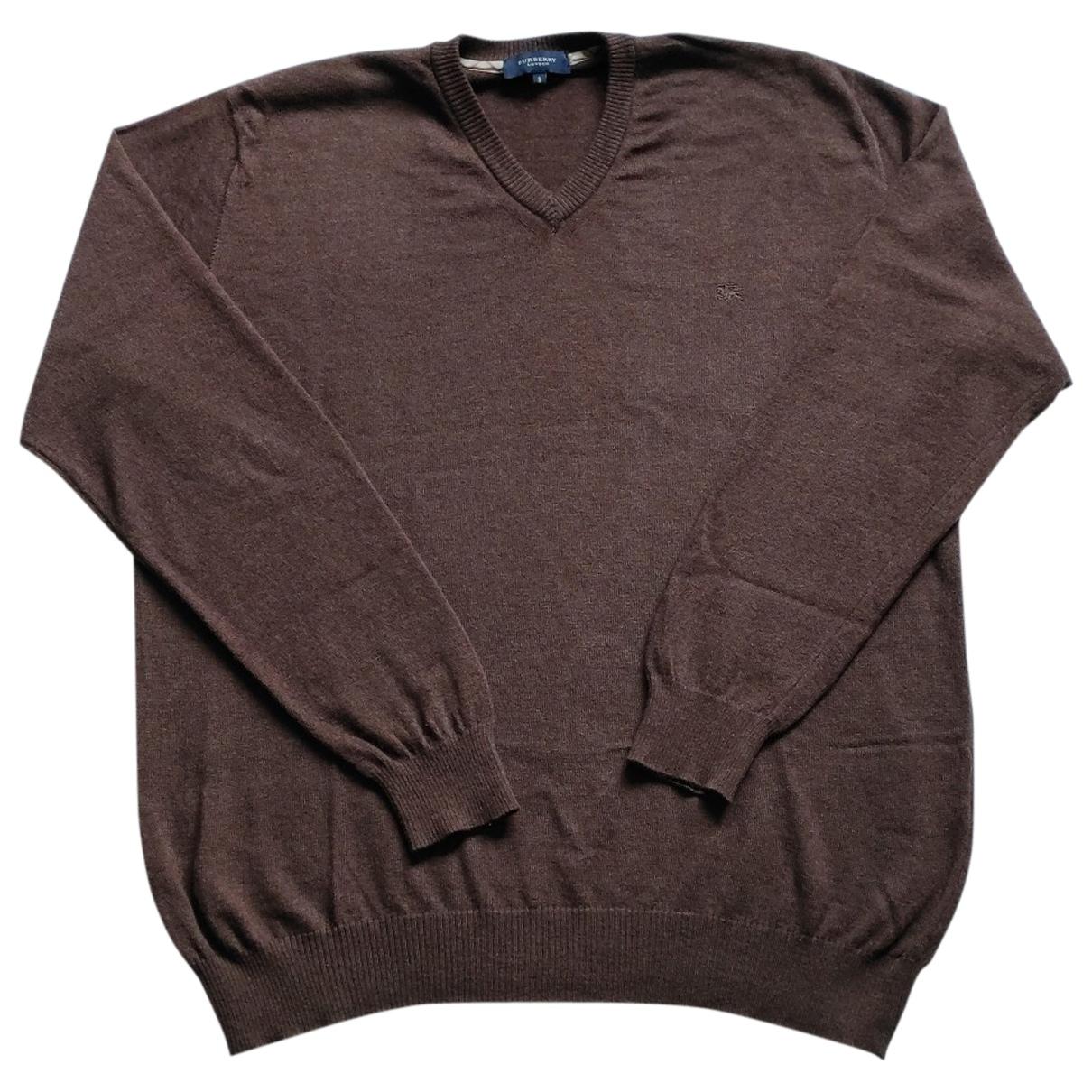 Burberry \N Pullover.Westen.Sweatshirts  in  Braun Wolle