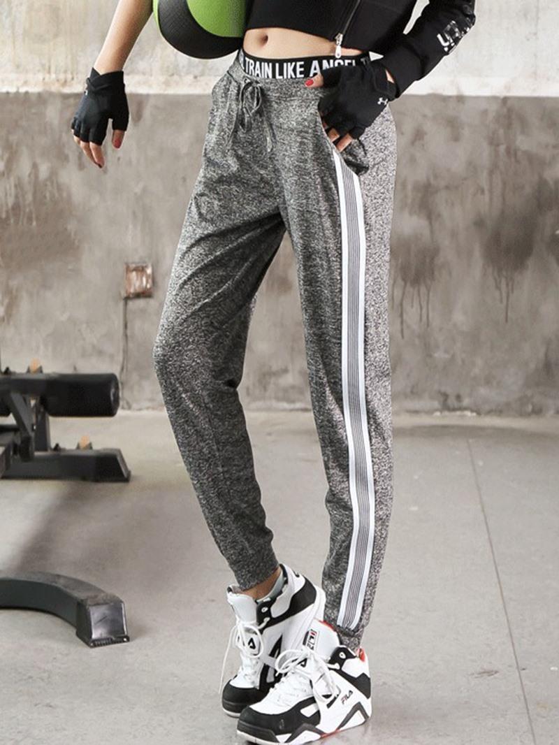 Ericdress Women Plus Size Color Block Pockets Yoga Pants