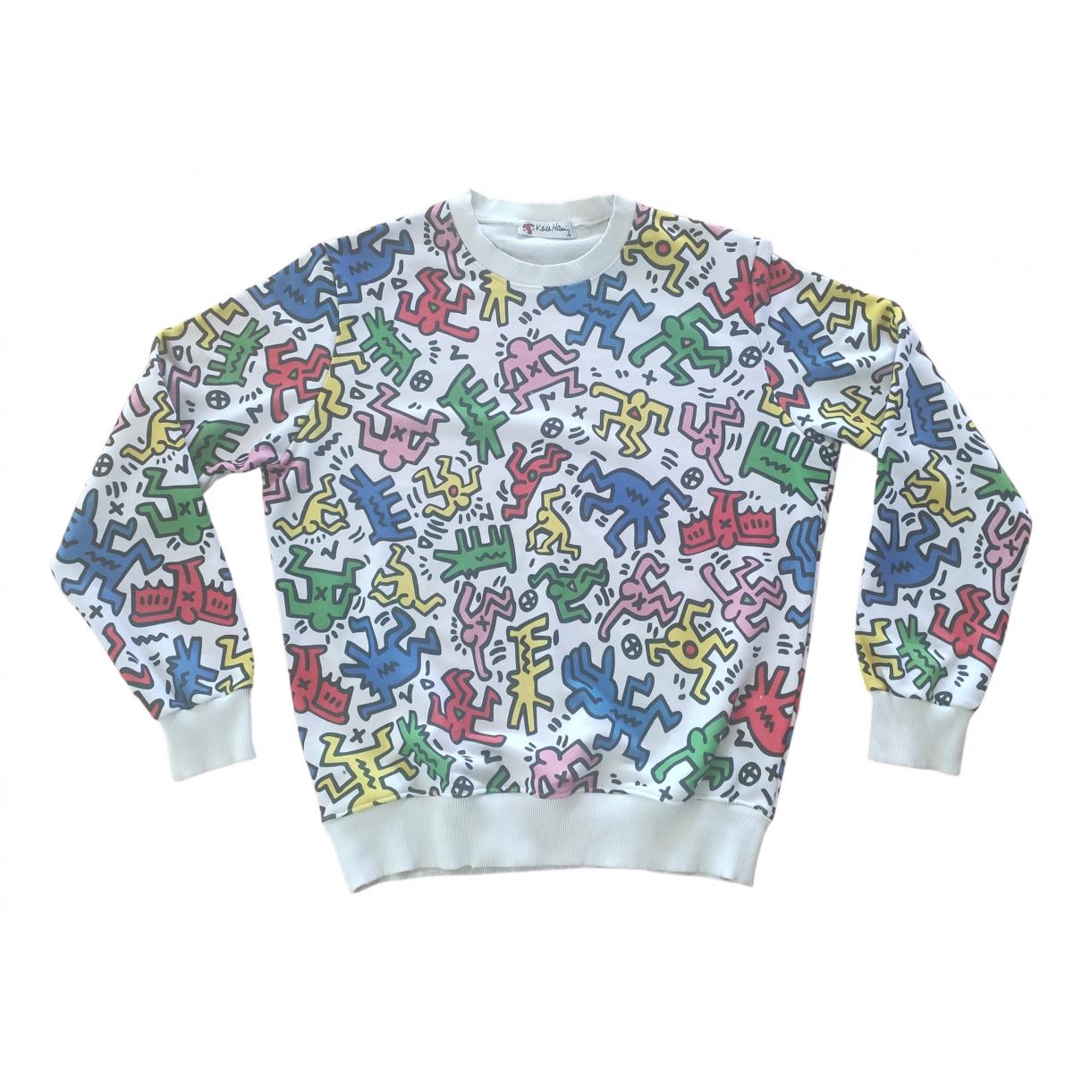 Keith Haring \N Pullover.Westen.Sweatshirts  in  Weiss Baumwolle