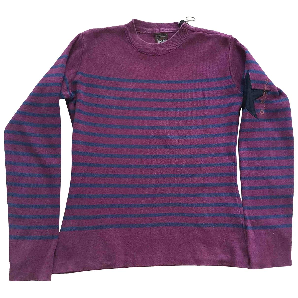 Jean Paul Gaultier - Pull   pour femme en laine - bordeaux