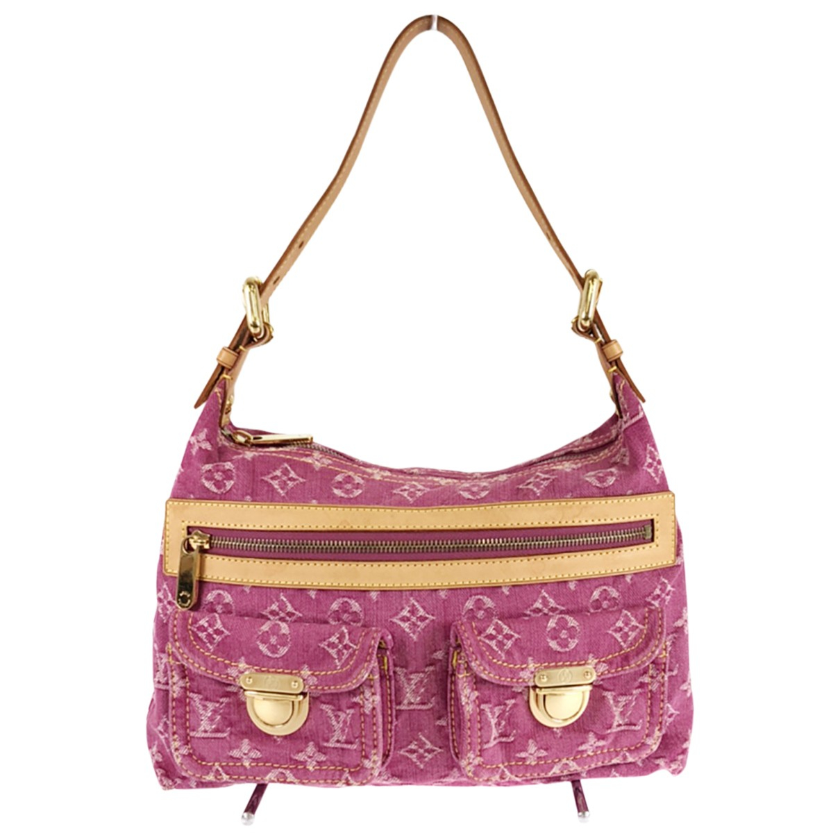 Louis Vuitton Baggy Pink Denim - Jeans handbag for Women N
