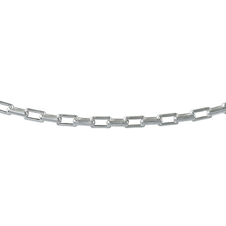Made in Italy Sterling Silver 20 Inch Solid Box Chain Necklace, One Size , No Color Family