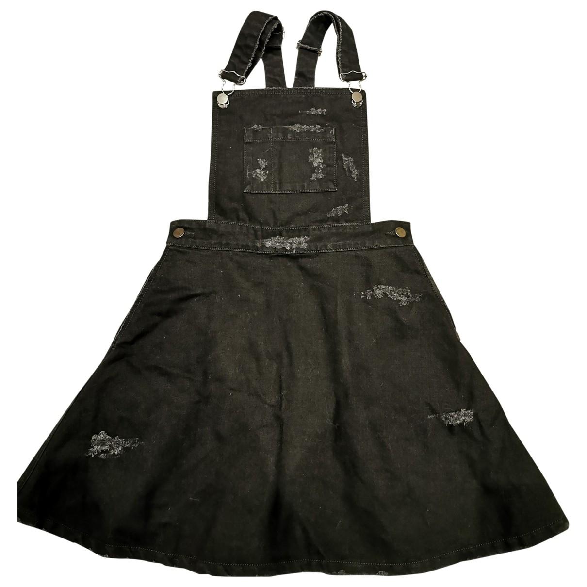 Non Signé / Unsigned \N Black Denim - Jeans jumpsuit for Women 36 FR