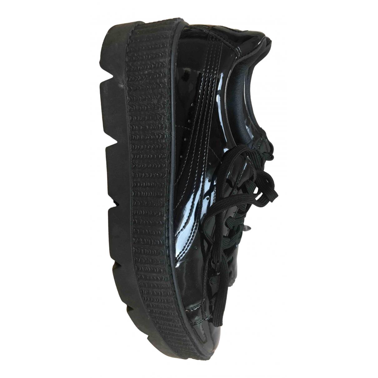 Fenty X Puma \N Sneakers in  Schwarz Lackleder
