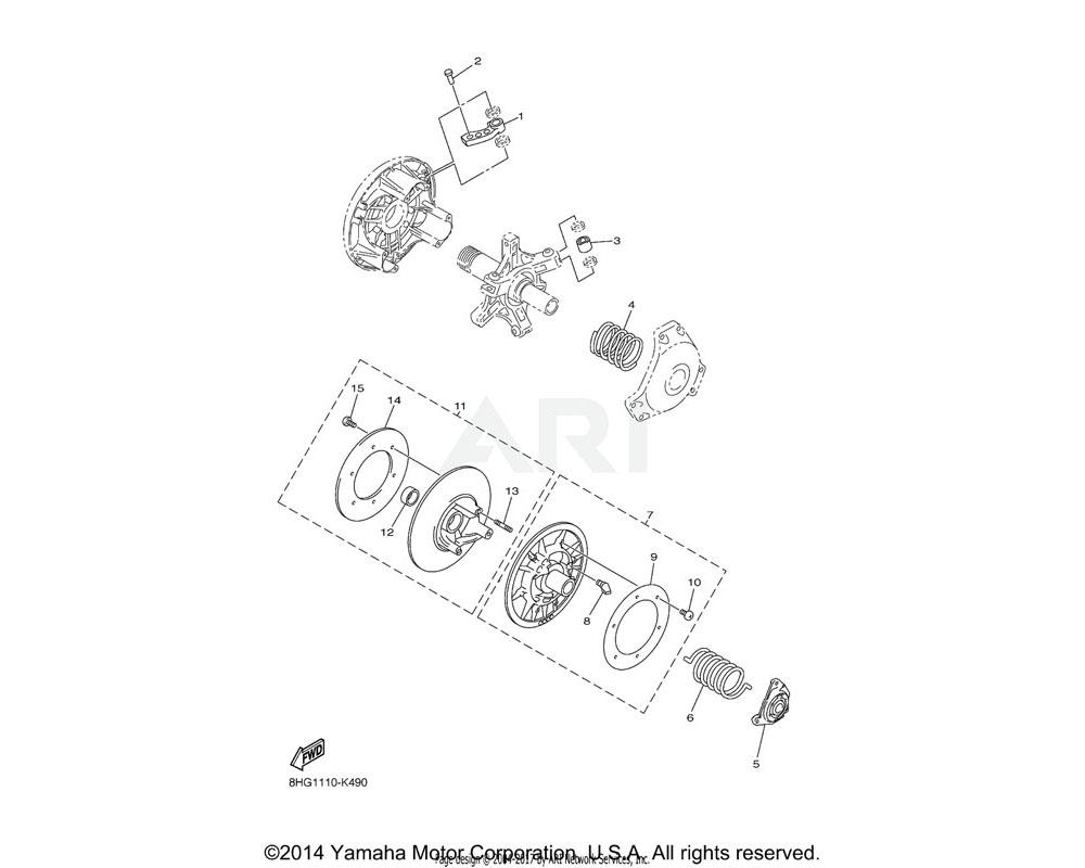 Yamaha OEM 90501-580A3-00 SPRING, COMPRESSION | UR (Y-Y-Y)