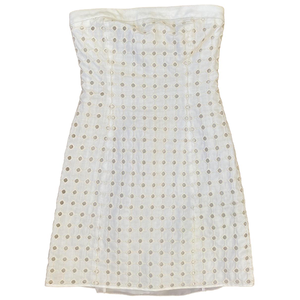 Emporio Armani \N Kleid in  Weiss Baumwolle