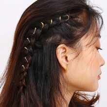 Spiral Design Hair Ring Set 10pcs
