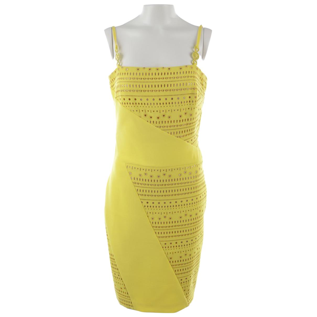 Versace \N Kleid in  Gelb Synthetik