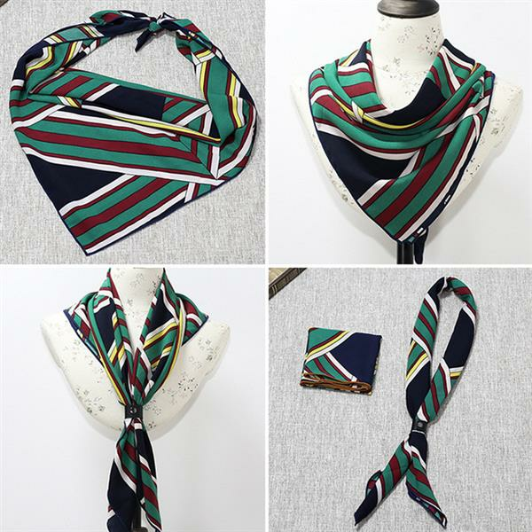 50*50CM Fashion Women Small Chiffon Square Scarf Printing Geometric Scarf Headband