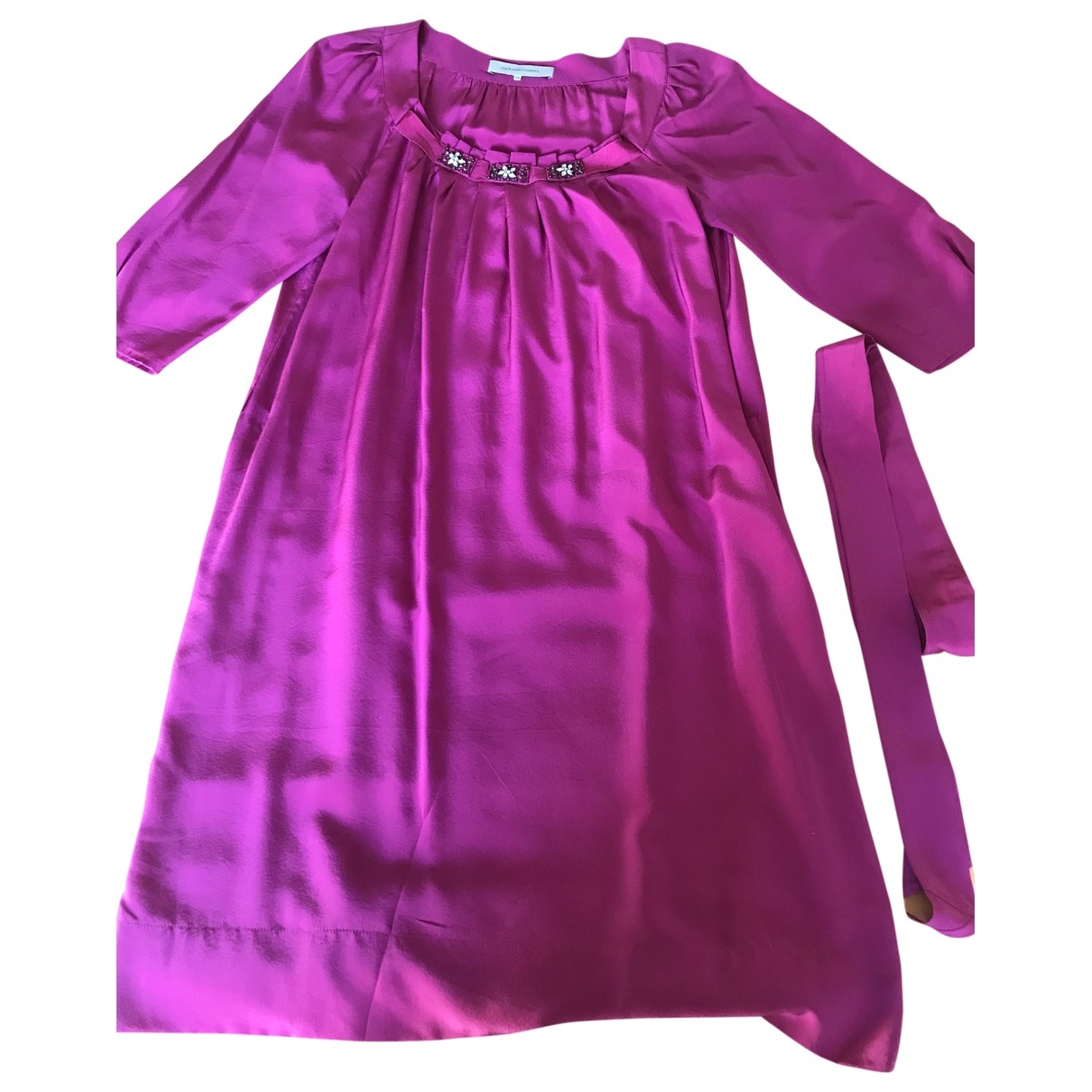 Gerard Darel \N Kleid in  Rosa Seide