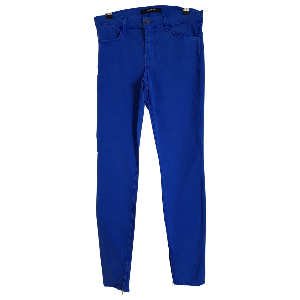 J Brand \N Blue Cotton Trousers for Women 38 FR