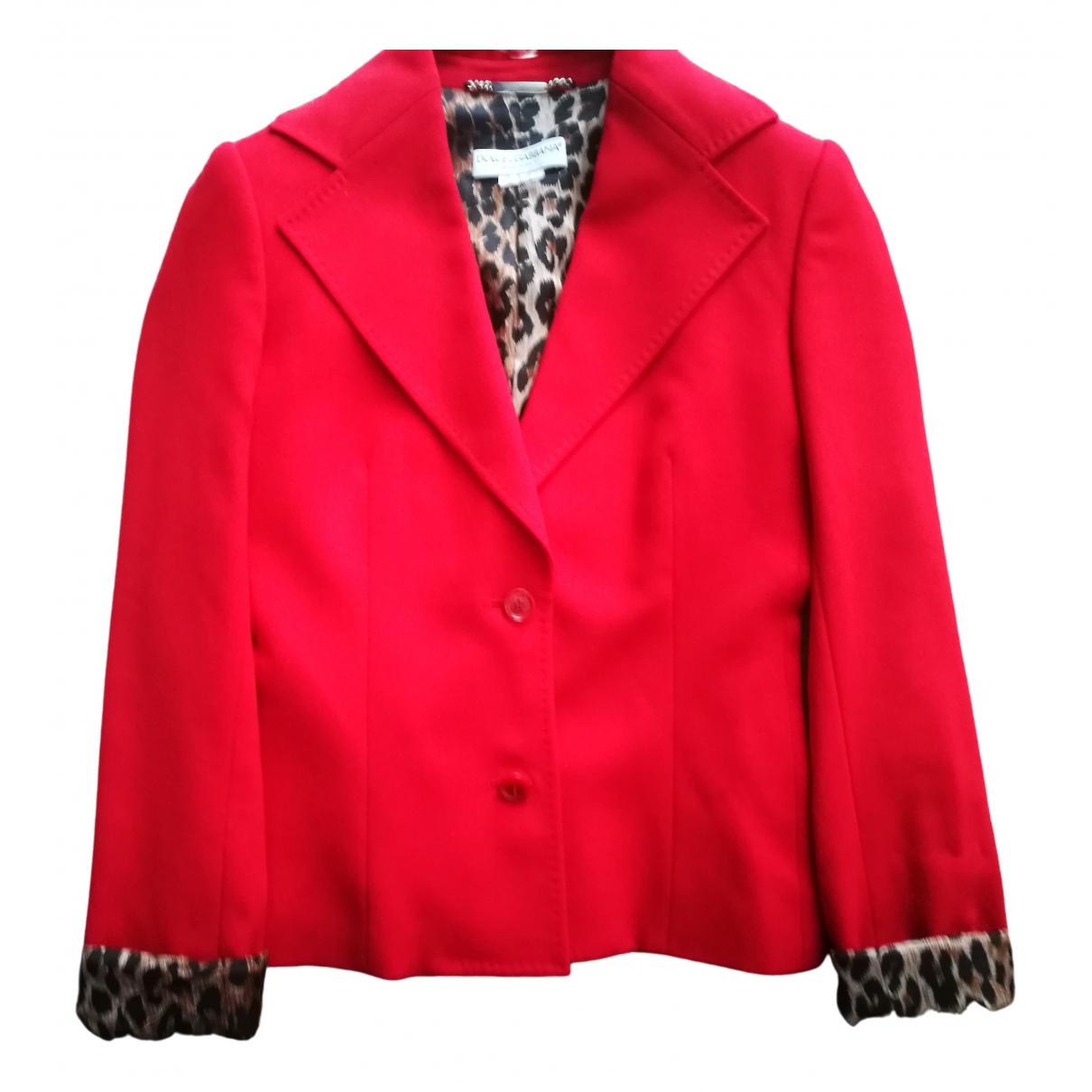 Dolce & Gabbana N Red Wool jacket for Women 40 FR