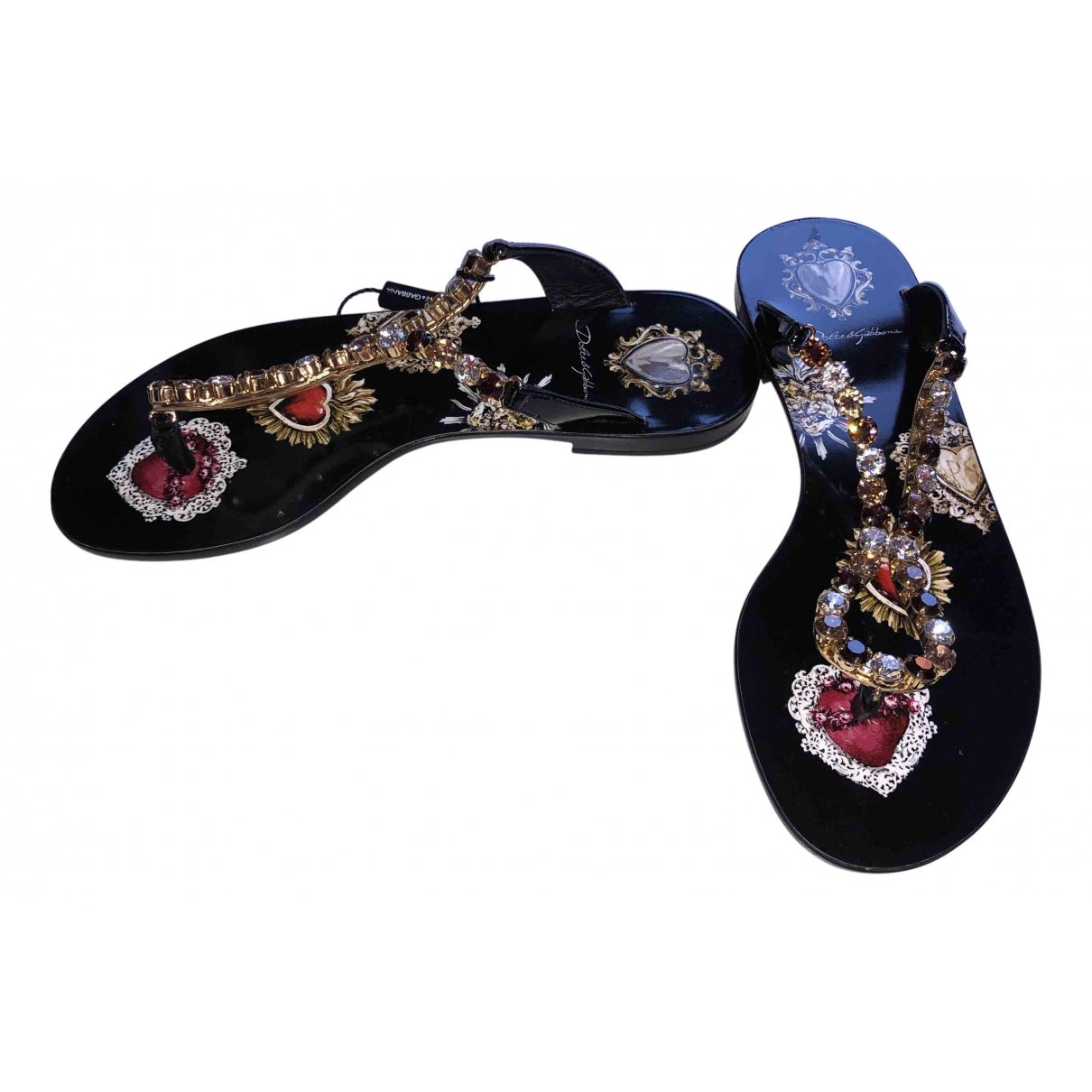 Chanclas de Charol Dolce & Gabbana