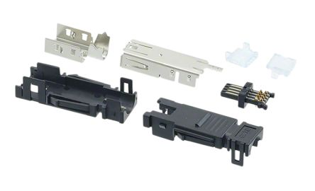 TE Connectivity Type II Series, Cable Mount Mini I/O Connector Female, 8 Way, Shielded, Blue