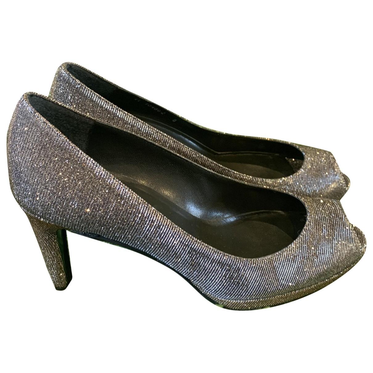 Stuart Weitzman \N Grey Glitter Heels for Women 8 US