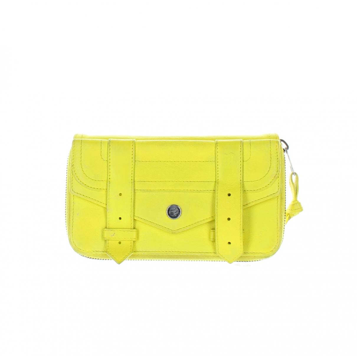 Proenza Schouler \N Portemonnaie in  Gelb Leder