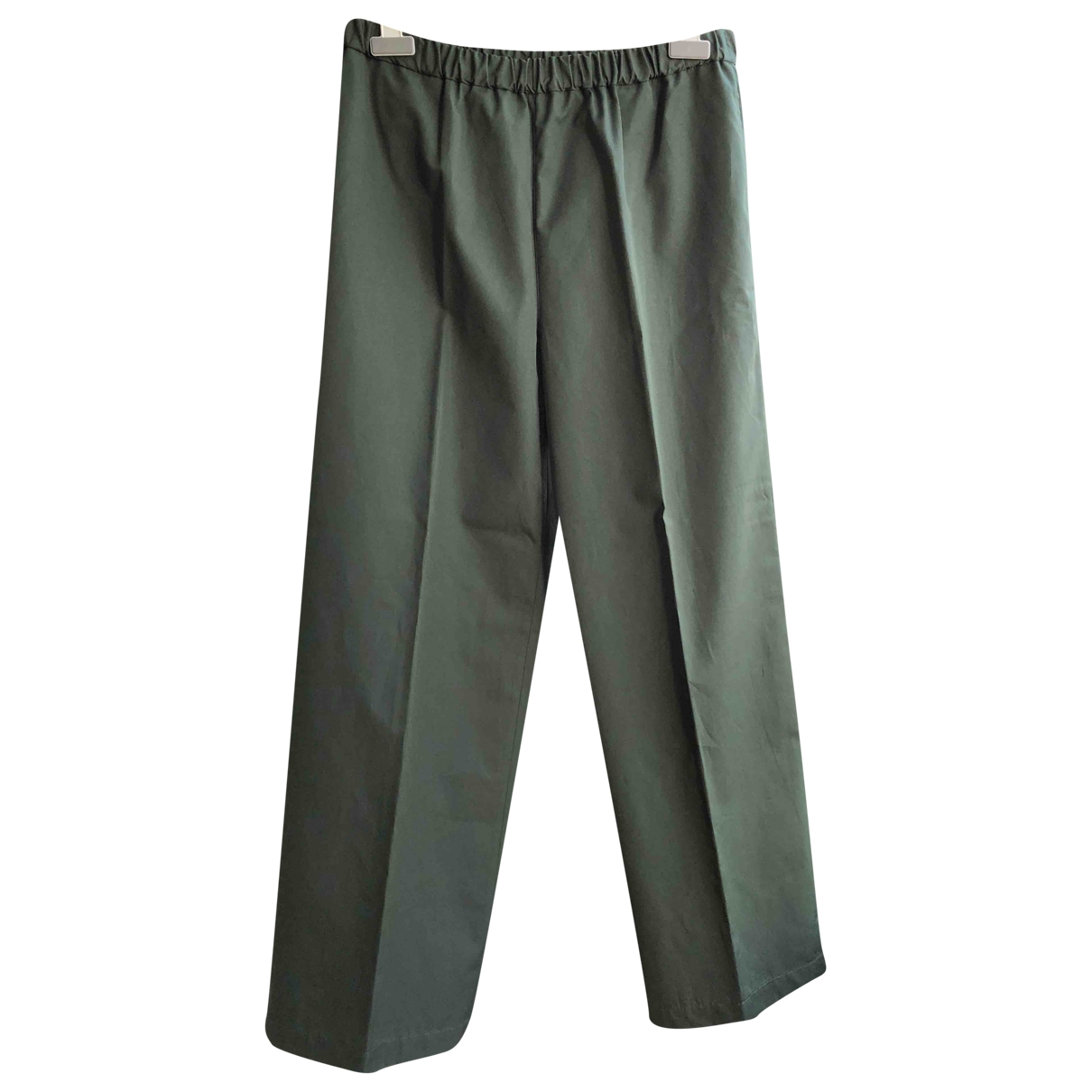 Aspesi \N Green Cotton Trousers for Women 46 IT