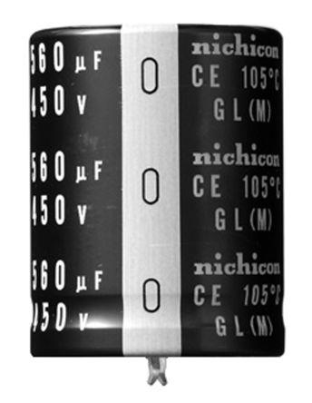 Nichicon 330μF Electrolytic Capacitor 450V dc, Through Hole - LGL2W331MELB35