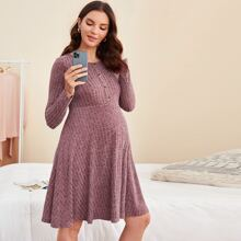 Maternity Button Front Dress