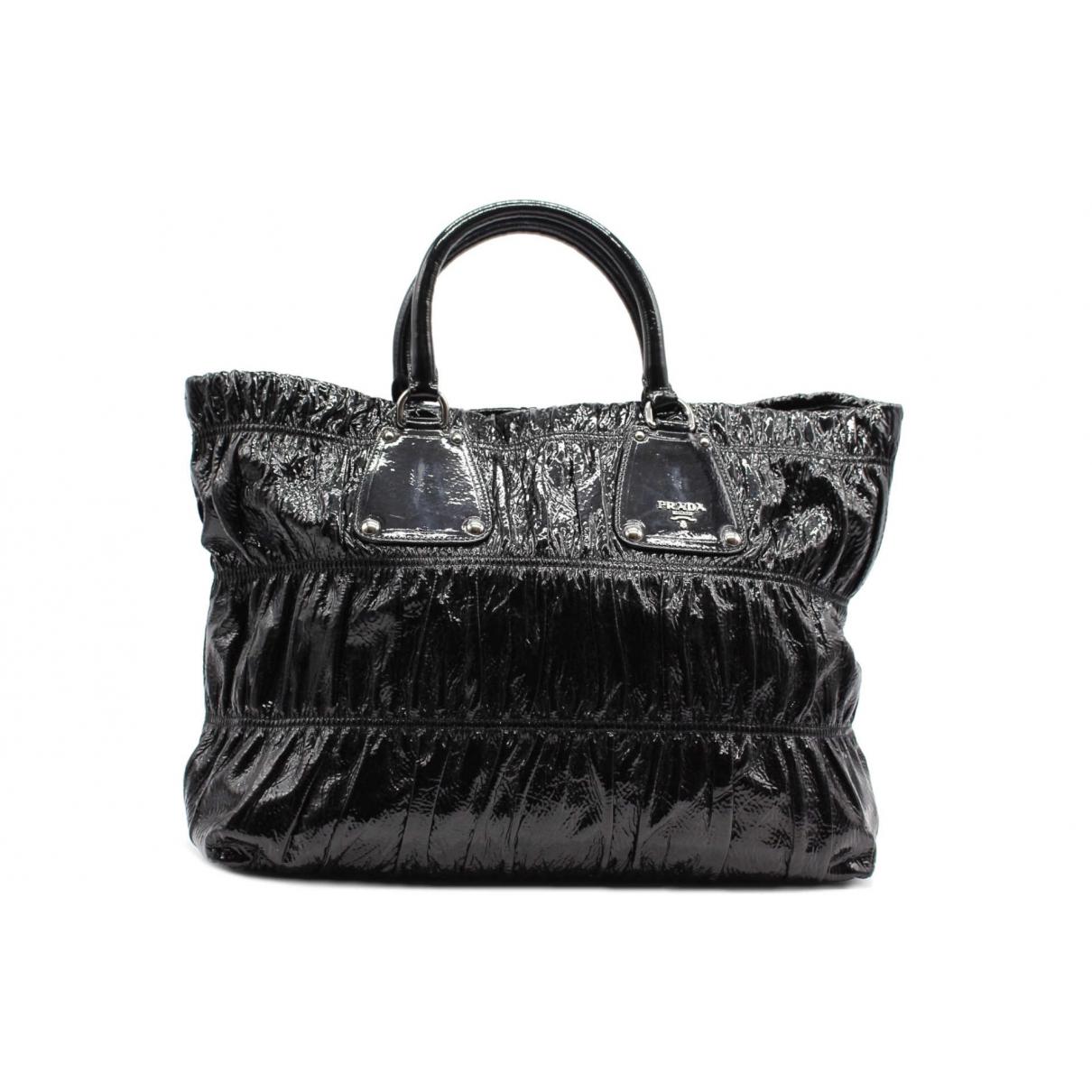 Prada N Black Patent leather handbag for Women N