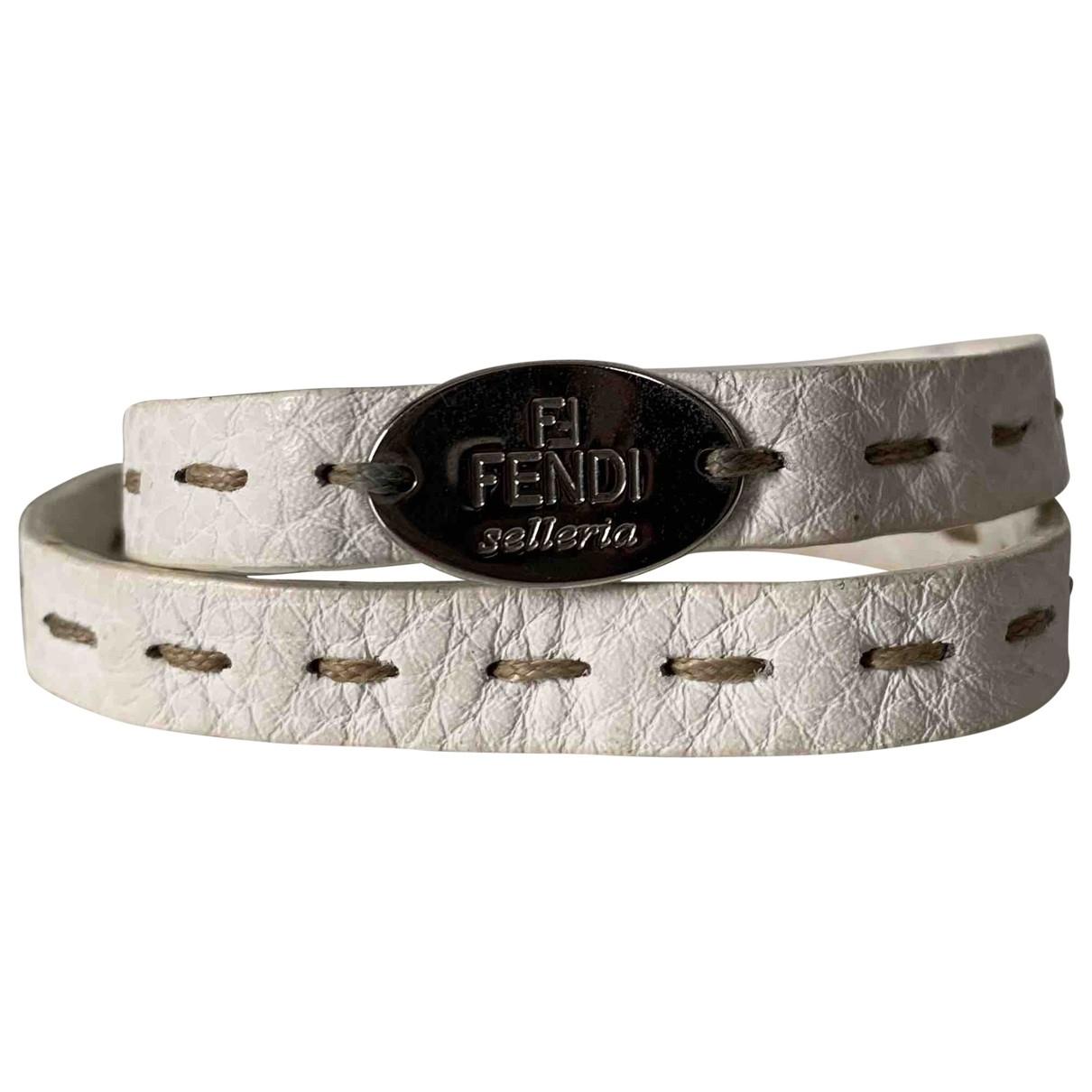 Fendi - Bracelet   pour femme en cuir - blanc