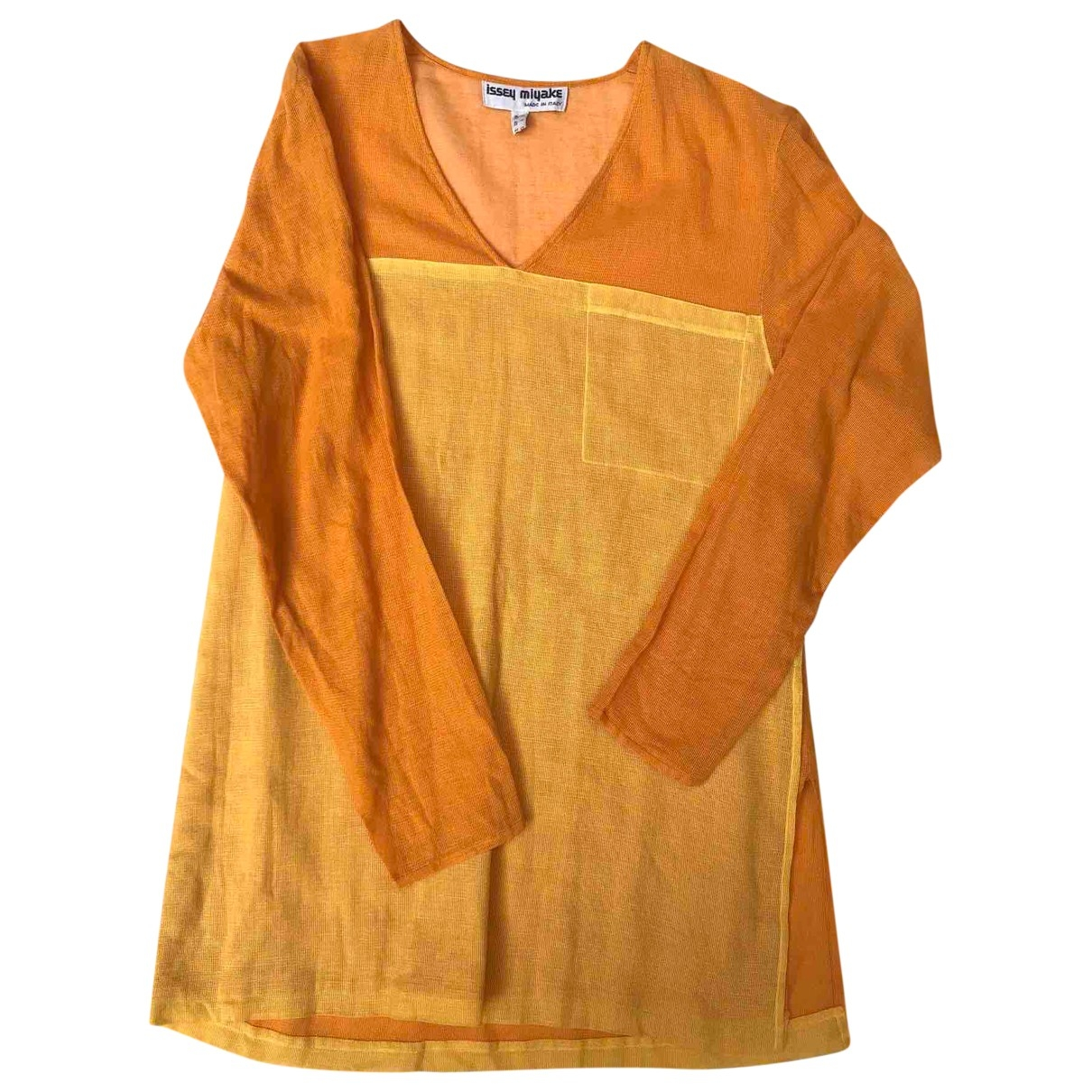 Issey Miyake \N Orange Cotton dress for Women 42 IT