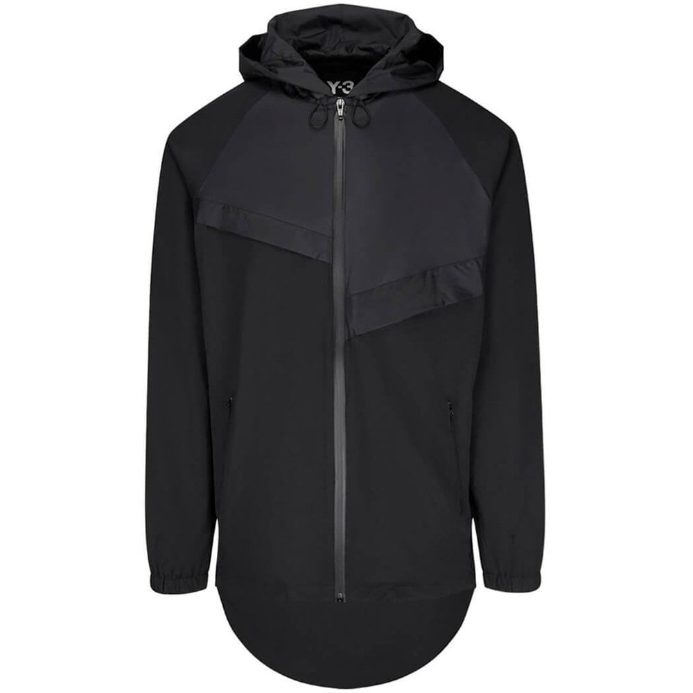 Y-3 Panelled Front Jacket Colour: BLACK, Size: SMALL