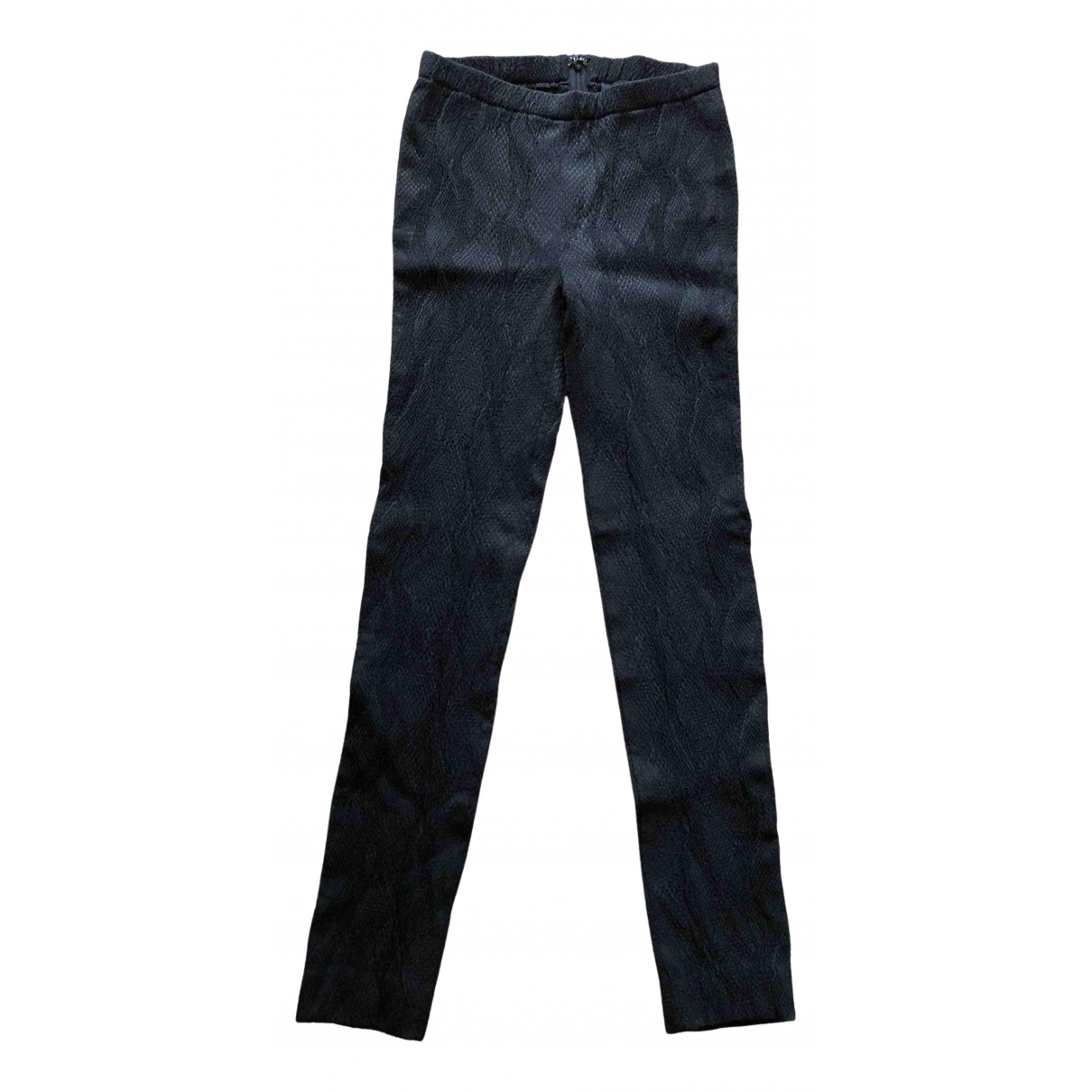 Zadig & Voltaire N Black Cotton Trousers for Women 38 FR